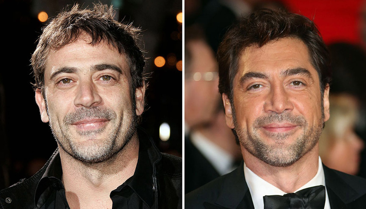 Side by side shots of Jeffrey Dean Morgan and Javier Bardem