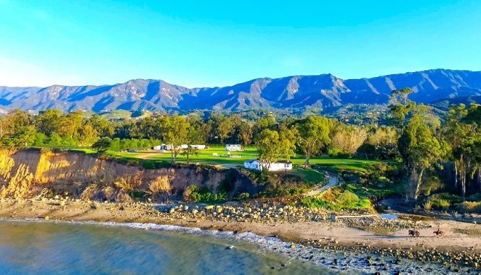 aerial view of kevin costner's california mansion