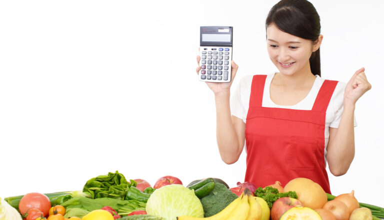 calculator-and-vegetables